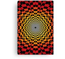 Abstract / Psychedelic Sunburst Pattern Canvas Print