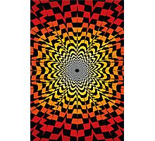 Abstract / Psychedelic Sunburst Pattern Photographic Print