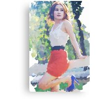 Her sunny day Canvas Print