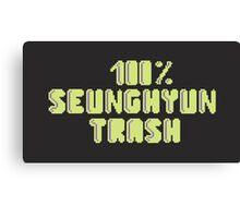 100% Seunghyun (T.O.P) trash Canvas Print