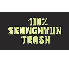 100% Seunghyun (T.O.P) trash Photographic Print