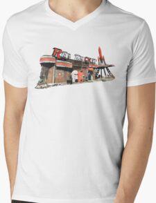 Red Rocket Station Mens V-Neck T-Shirt