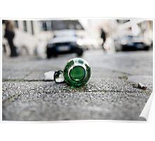 Street - Becks Bottle Poster