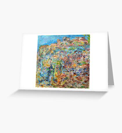 Escarpment, oil on canvas Greeting Card