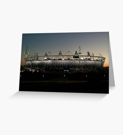 Olympic Stadium Afterglow Greeting Card