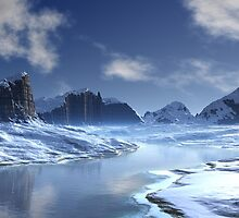 Ice River Valley by SpinningAngel