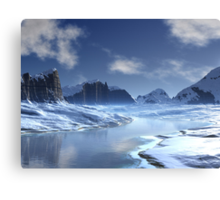 Ice River Valley Canvas Print