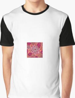Pink and red flower Graphic T-Shirt