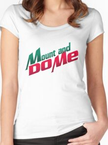 Mount and do me! - Mountain Dew Women's Fitted Scoop T-Shirt