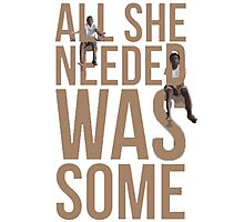 Chance the Rapper Childish Gambino All She Needed  Photographic Print