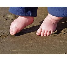 Little steps in the sand Photographic Print