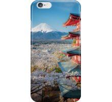 Japan, Chureito Pagoda Mt. Fuji View iPhone Case/Skin