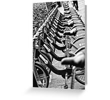 London Bicycles Greeting Card