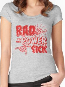Rad to the Power of Sick- red Women's Fitted Scoop T-Shirt