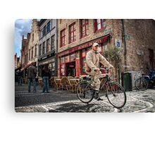 Bicycle in Bruges Canvas Print