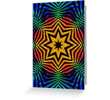 Colorful Radial Pattern Greeting Card