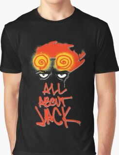 ALL ABOUT JACK-BLACK Graphic T-Shirt