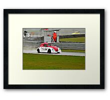 red and white pan Framed Print