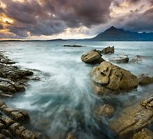 Elgol : Stormy Sunset by Angie Latham