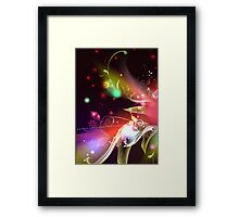 Glowing Flowers & Flourishes Framed Print