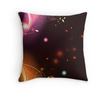 Glowing Flowers & Flourishes Throw Pillow