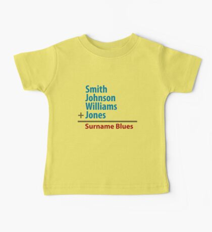 Surname Blues - Smith, Johnson, Williams & Jones Kids Clothes