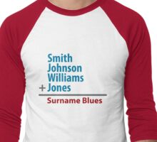 Surname Blues - Smith, Johnson, Williams & Jones Men's Baseball ¾ T-Shirt