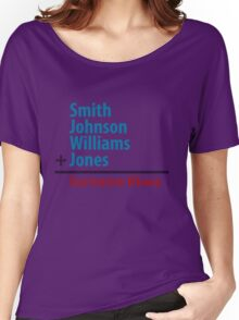Surname Blues - Smith, Johnson, Williams & Jones Women's Relaxed Fit T-Shirt