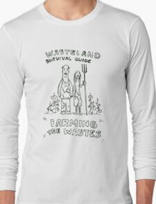 Wasteland Survival Guide - Farming Cover - Fallout 4 Long Sleeve T-Shirt