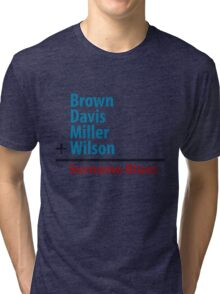 Surname Blues - Brown, Davis, Miller & Wilson Tri-blend T-Shirt