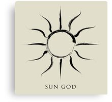 Sun God - Black Edition Canvas Print