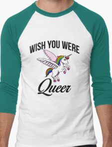 Wish you were queer  Men's Baseball ¾ T-Shirt