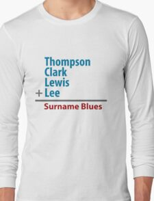 Surname Blues - Thompson, Clark, Lewis, Lee T-Shirt