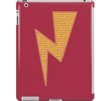 Lightning Bolt - Potter Style iPad Case/Skin