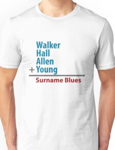 Surname Blues - Walker, Hall, Allen, Young T-Shirt