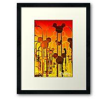 Molten Mickey Framed Print