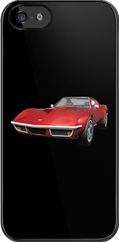 Red 1970 Corvette by bradyarnold