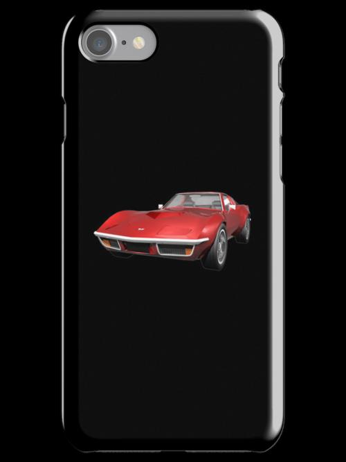 Red 1970 Corvette by bradyarnold