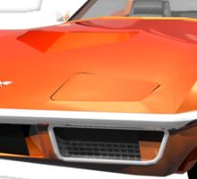 Orange 1970 Corvette Sticker