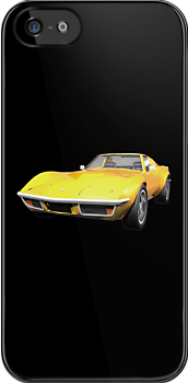 Yellow 1970 Corvette by bradyarnold