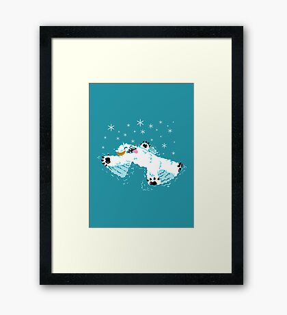 Wampa snow angel  Framed Print
