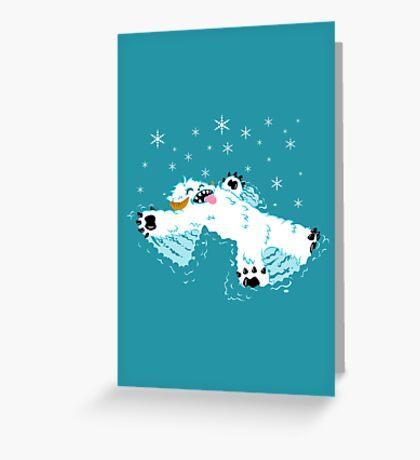 Wampa snow angel  Greeting Card