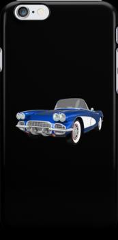 Blue 1961 Corvette C1 by bradyarnold