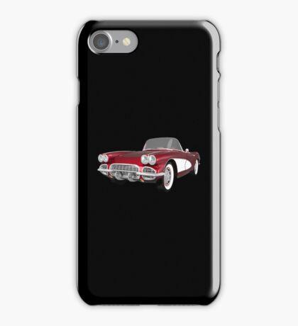 Candy Apple 1961 Corvette C1 iPhone Case/Skin