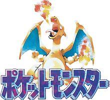 Pokémon Red (Japanese) - Polygon Logo by pfisterus