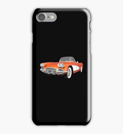 Orange 1961 Corvette C1 iPhone Case/Skin