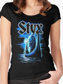 styx ferryman BAND TOUR Def01 Women's Fitted Scoop T-Shirt
