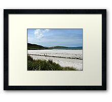 White Sands and Blue Sky - Seilebost Beach Framed Print
