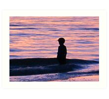 Sunset Art - Contemplation Art Print
