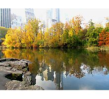Autumn in Central Park, New York City Photographic Print